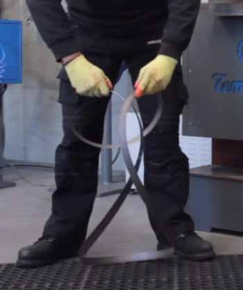 Technic of Bandsaw Blade Folding