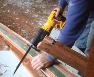 Demolish with Reciprocating Saw